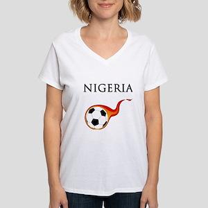 Nigeria Soccer Women's V-Neck T-Shirt