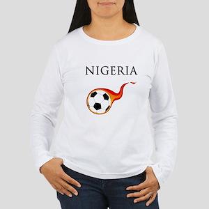 Nigeria Soccer Women's Long Sleeve T-Shirt