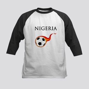 Nigeria Soccer Kids Baseball Jersey