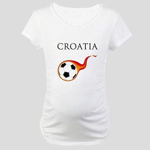 Croatia Soccer Maternity T-Shirt