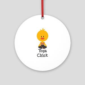 Yoga Chick Ornament (Round)