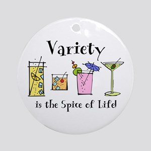 Cocktail Variety Ornament (Round)