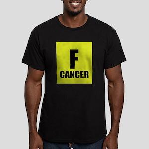 F Cancer Men's Fitted T-Shirt (dark)