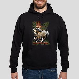 The Year Of The Horse Hoodie (dark)
