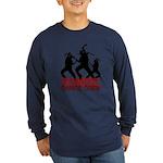 Zombie Long Sleeve Dark T-Shirt
