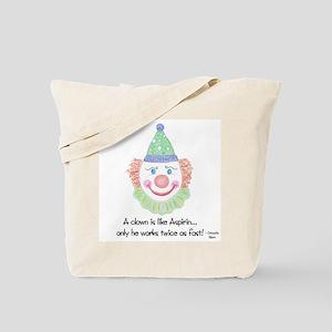 A clown is like Aspirin... Tote Bag