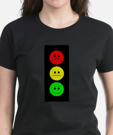 Moody Stoplight Women's Dark T-Shirt