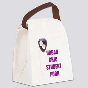 Urban Chic Student Poor-purple Canvas Lunch Bag