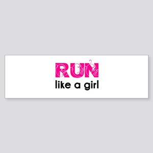Run like a girl Sticker (Bumper)