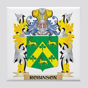 Robinson Family Crest - Coat of Arms Tile Coaster