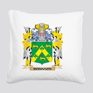 Robinson Family Crest - Coat Square Canvas Pillow