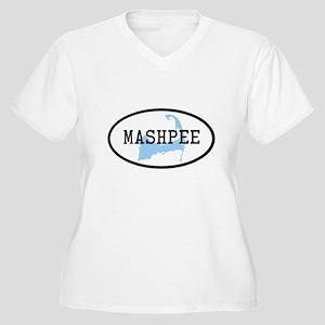 Mashpee Women's Plus Size V-Neck T-Shirt