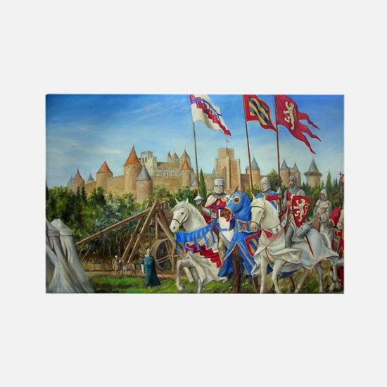 Siege of Carcassonne Rectangle Magnet