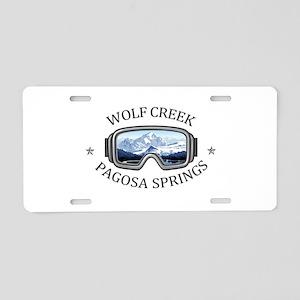 Wolf Creek Ski Area - Pag Aluminum License Plate