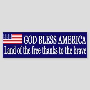 God Bless America Sticker (Bumper)