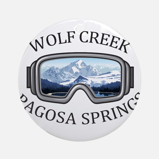 Wolf Creek Ski Area - Pagosa Spri Round Ornament
