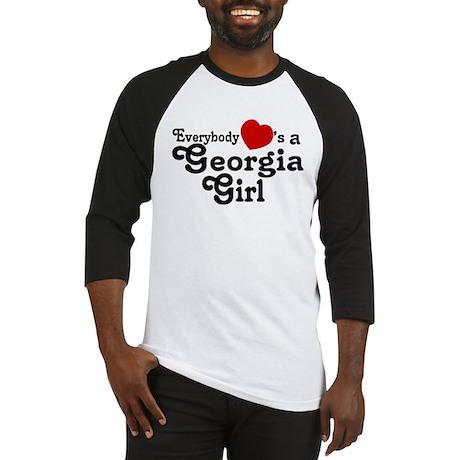 Everybody Hearts a Georgia Gi Baseball Jersey