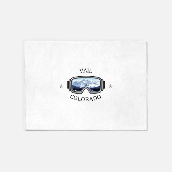 Vail Ski Resort - Vail - Colorado 5'x7'Area Rug