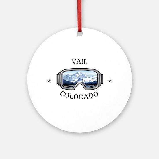 Vail Ski Resort - Vail - Colorado Round Ornament