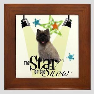 Cairn Terrier STAR Framed Tile