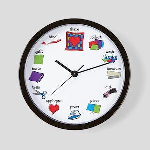 Quilter's Clock Wall Clock