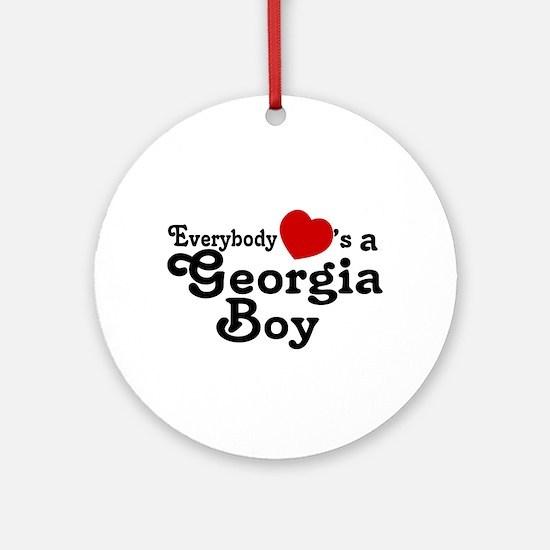 Everybody Hearts a Georgia Bo Ornament (Round)