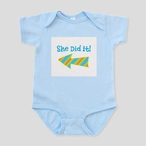 SheDidIt Infant Bodysuit