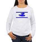 Dont Tread on Me! Hebrew Women's Long Sleeve T-Shi
