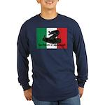 Don't Tread on Me! in Italian Long Sleeve Dark T-S