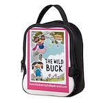 Pink Framed Neoprene Lunch Bag