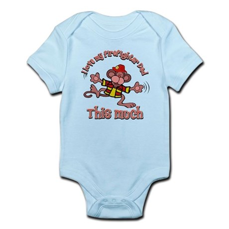 I love my Firefighter dad this much Infant Bodysui