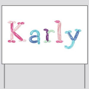 Karly Princess Balloons Yard Sign