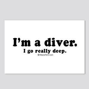 I'm a diver. I go deep -  Postcards (Package of 8)