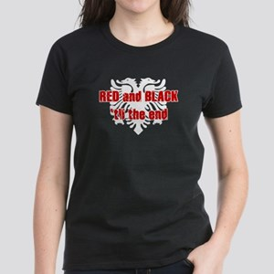 Red and Black til the end! Women's Dark T-Shirt