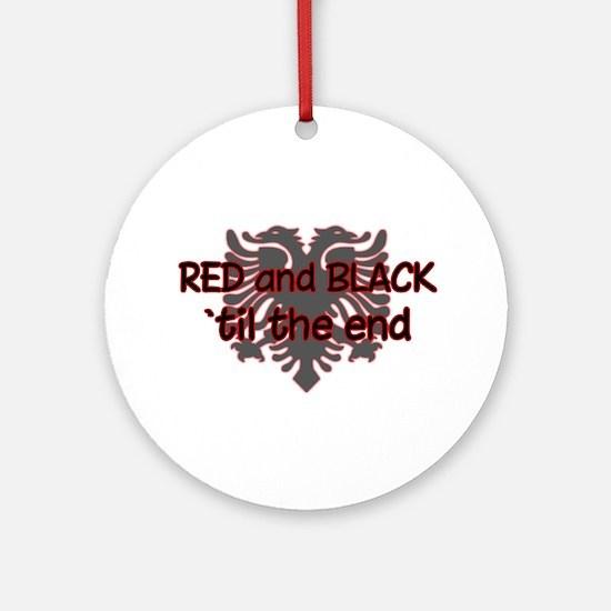 Red & Black Ornament (Round)