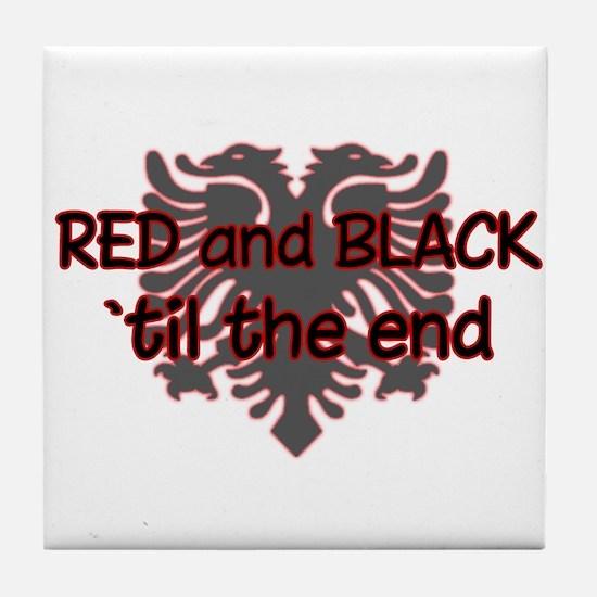 Red & Black Tile Coaster