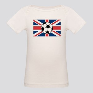 UK Soccer Flag Organic Baby T-Shirt