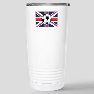 UK Soccer Flag Stainless Steel Travel Mug