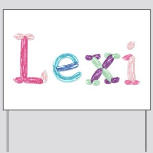 Lexi Princess Balloons Yard Sign