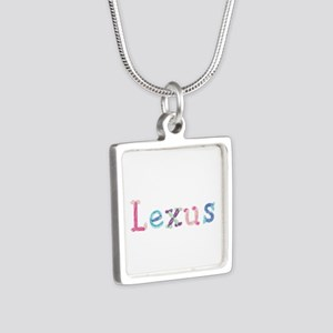 Lexus Princess Balloons Silver Square Necklace