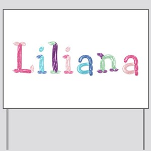 Liliana Princess Balloons Yard Sign