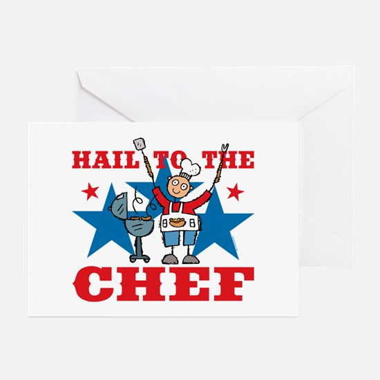 Hail To The BBQ Chef Greeting Cards (Pk of 20)
