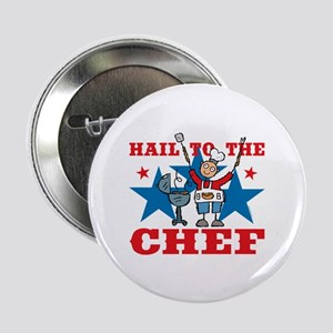 "Hail To The BBQ Chef 2.25"" Button (10 pack)"