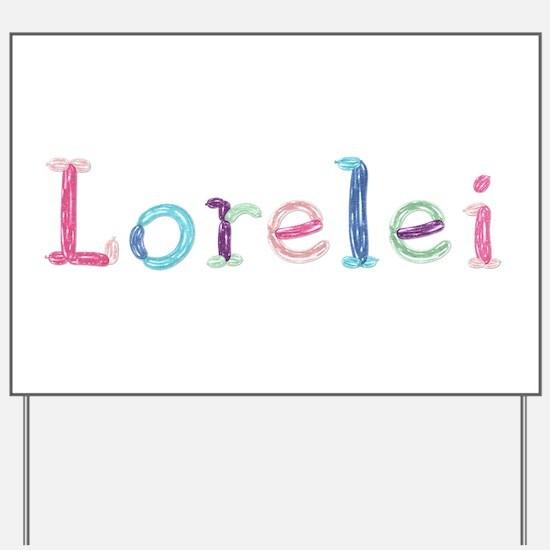 Lorelei Princess Balloons Yard Sign