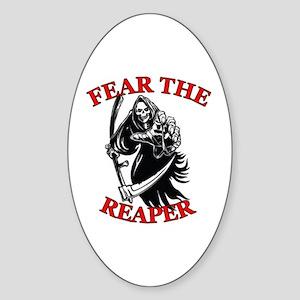 Fear The Reaper Sticker (Oval)