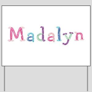 Madalyn Princess Balloons Yard Sign
