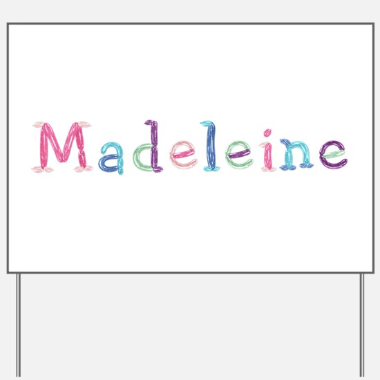 Madeleine Princess Balloons Yard Sign