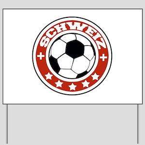 Schweiz Soccer Yard Sign