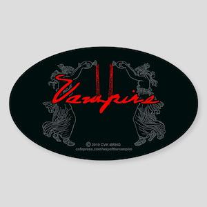 Vampire Blood Dance Sticker (Oval)