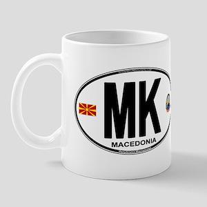 Macedonian Euro Oval Mug